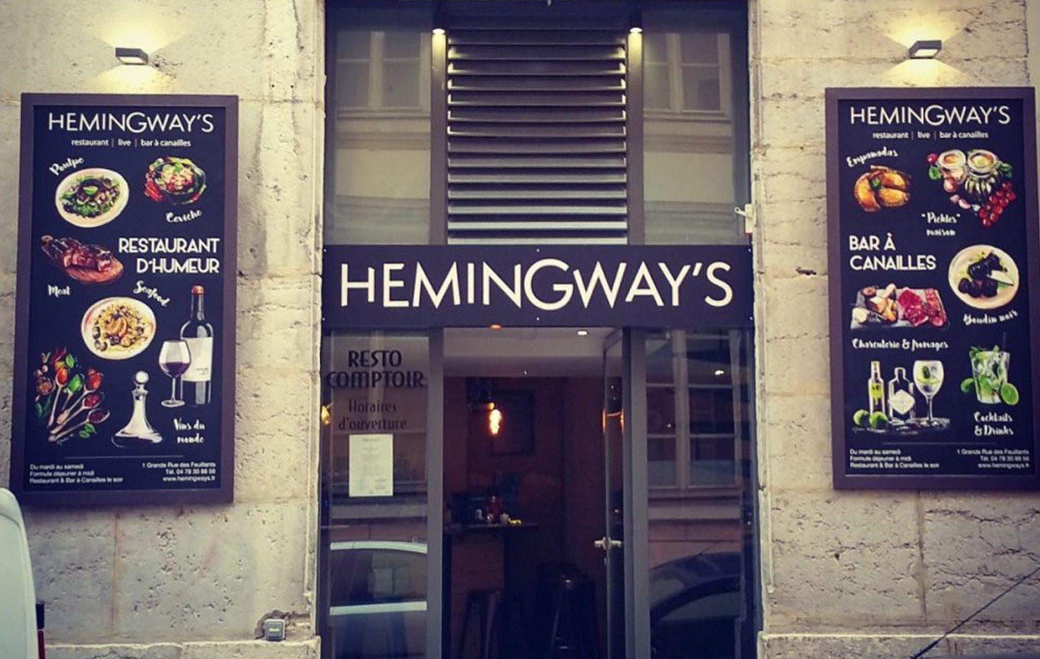 Venir au hemingways