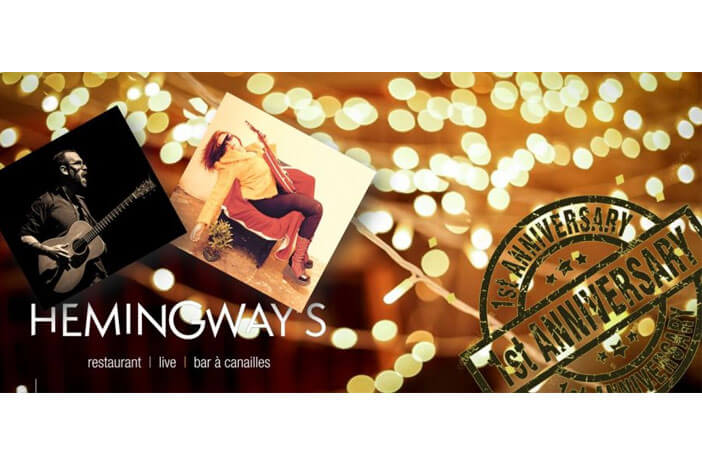 Anniversaire Hemingway's 1 An // Concert Live Samedi 18 Novembre 2017 à 22H // Elwyn Gallway & Erwan Pinard